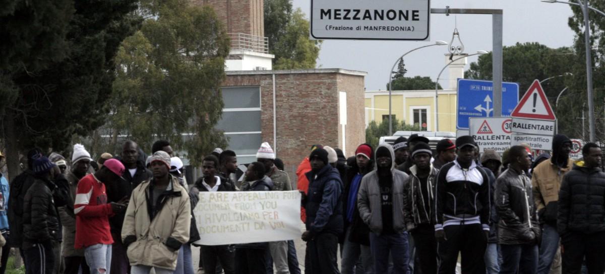 Borgo Mezzanone, protesta da parte di 50 nigeriani