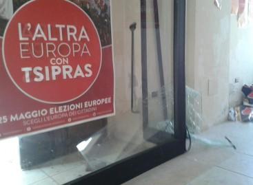 Foggia, atti vandalici nella sede del Comitato Tsipras