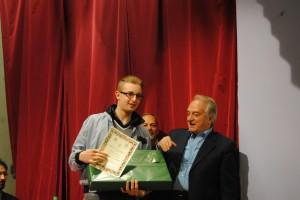Il vincitore del premio l'alunno Rocco Bellino