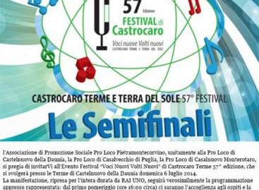 Castelnuovo della Daunia, semifinali 57esimo Festival di Castrocaro