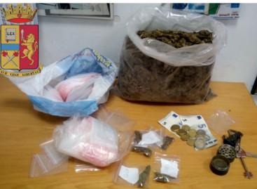 Foggia, trovato con 770 grammi di marijuana
