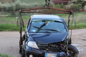 incidente auto serracapriola grave neonata