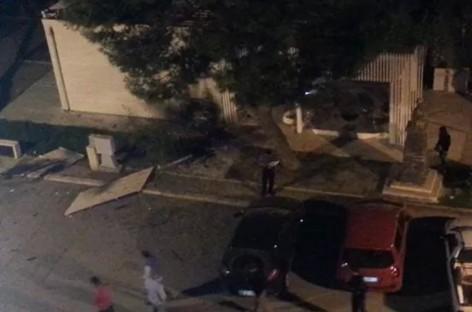 Carapelle, bomba esplosa davanti a un bar, danni ingenti
