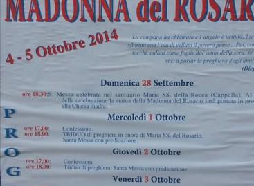 Casalnuovo Monterotaro, Madonna del Rosario 2014