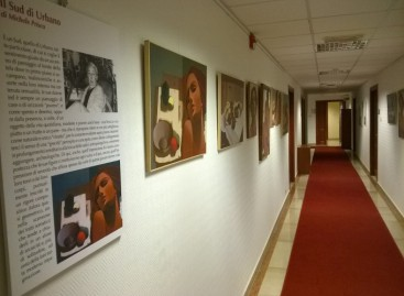 Estemporanea del maestro Ubaldo Urbano all'Università degli Studi di Foggia