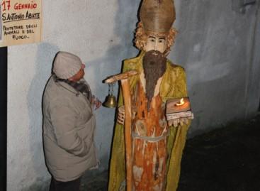 Alberona, arte e fiamme per l'Abate