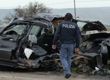 Spaventoso incidente stradale in Via San Severo
