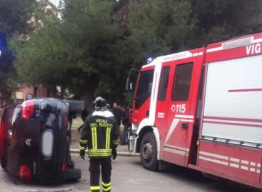 Foggia, incidente stradale in Via Gioberti, 3 feriti