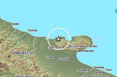 Registrato un nuovo terremoto alle ore 18:17 del 10 Gennaio 2015