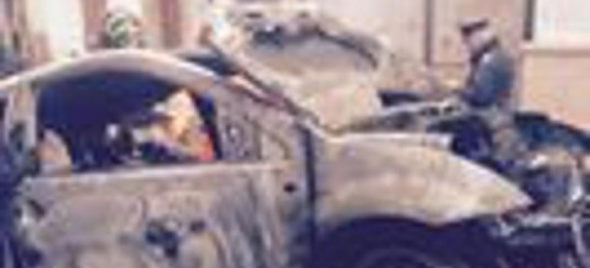 San Marco in Lamis, a fuoco l' auto di un Carabiniere