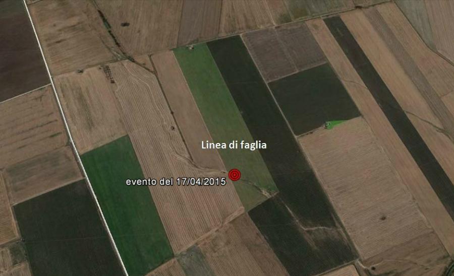 Poggio Imperiale e San Paolo di Civitate, dal Satellite la faglia che sta generando il terremoto