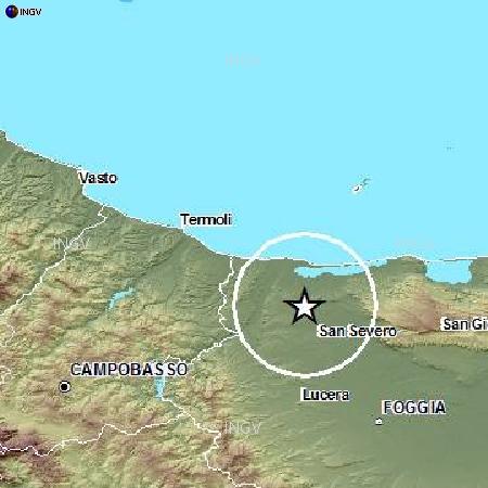 Promontorio del Gargano, altra scossa alle ore 11:11 di oggi, Magnitudo 3.1