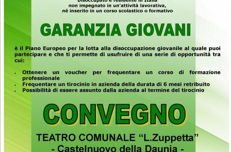 """Castelnuovo della Daunia, """"Garanzia Giovani"""" – 4 Giugno alle ore 18:00"""