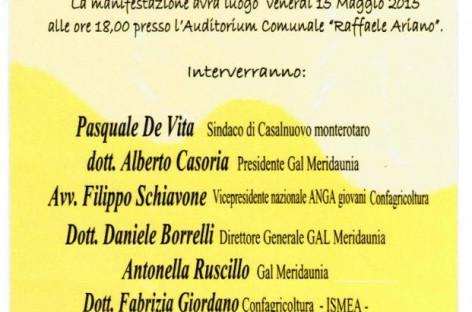 """Casalnuovo Monterotaro, inaugurazione sportello informativo per i Giovani e le Aziende """"SPIGA"""" – 15 Maggio"""