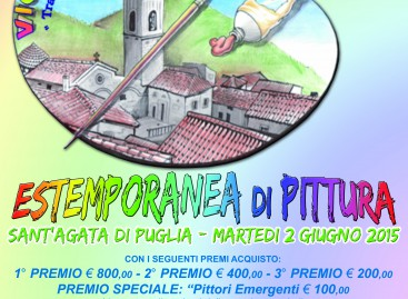 """Sant'Agata di Puglia, """"Vicolorando"""" – estemporanea di pittura – 2 Giugno 2015"""