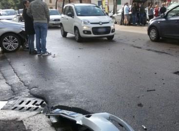 Foggia, incidente stradale in Viale Ofanto: quattro auto coinvolte