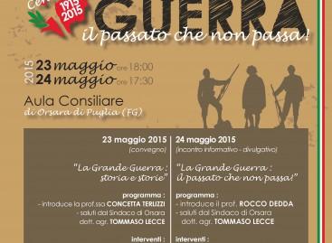 Orsara e l'eroismo di Giulio Volpe, storie della Grande Guerra – 23 e 24 Maggio 2015