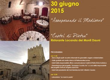A Pietramontecorvino, martedì 30 giugno ore 11, 'Assaporando il Medioevo'
