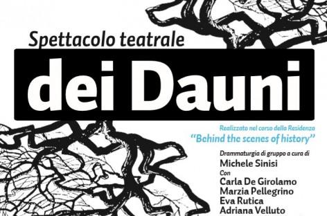 """Al Castello di Sant'Agata di Puglia, anteprima dello spettacolo teatrale """"dei Dauni"""" – 27 Giugno"""