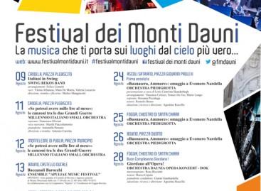ECCO L'ESTATE IN MUSICA DEI MONTI DAUNI – dal 9 al 28 Agosto