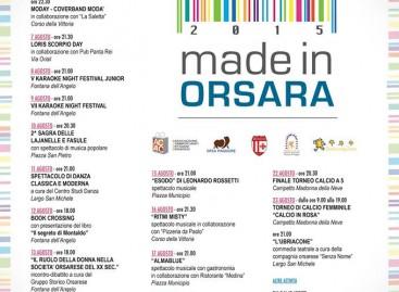 Made in Orsara, tutte le date dell'agosto orsarese