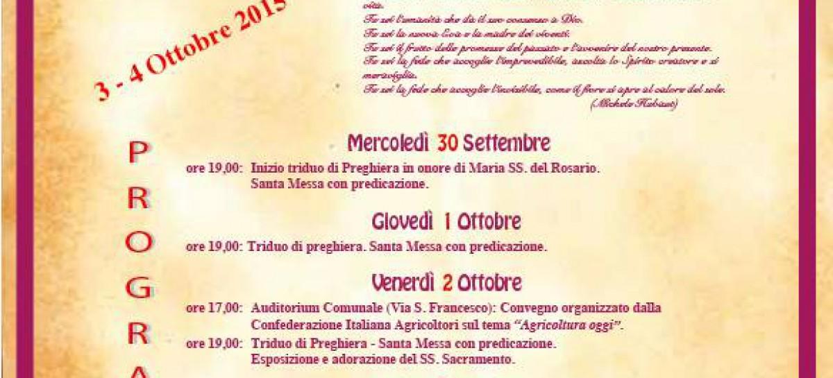 Casalnuovo Monterotaro, Madonna del Rosario – 3 e 4 Ottobre