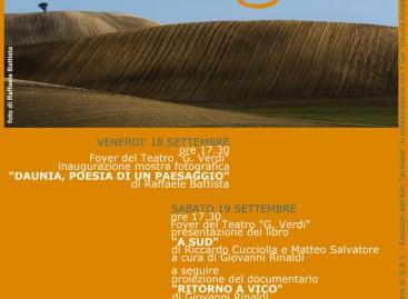 """Daunia, poesia di un paesaggio"""" al Festival di San Severo – 18 Settembre"""