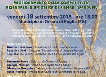 Orsara, il futuro dell'agroalimentare: tecnologia per la salute – 18 Settembre