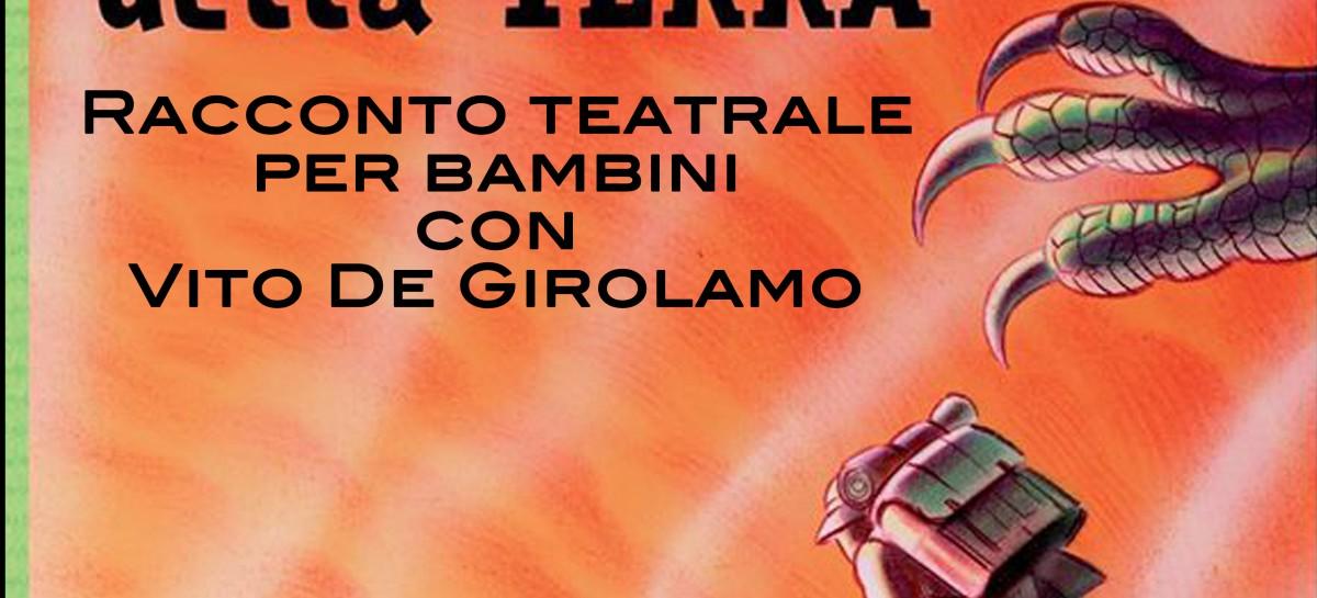 """Domani a Skantinato 58 """"Viaggio al centro della terra"""". Racconto teatrale per famiglie con l'attore Vito De Girolamo"""