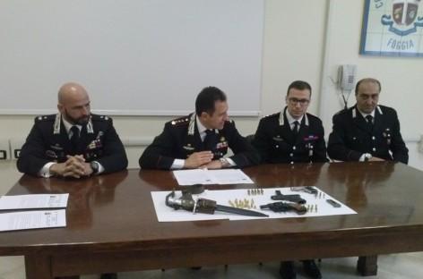 Cagnano Varano, arrestato 52enne per detenzione illecita di armi e munizioni