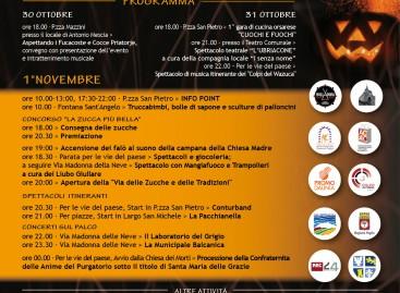 Fucacoste, ecco il programma: è la Festa più grande della Daunia – dal 30 ottobre all'1 novembre