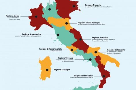 Riforme, parte la discussione per ridurre il numero di Regioni: da 20 a 12