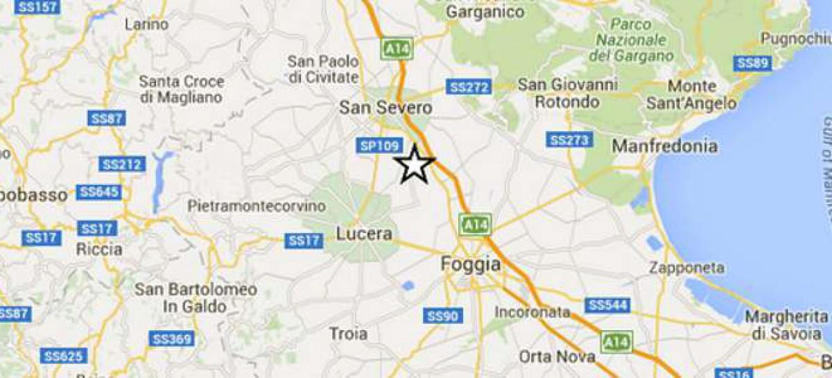 Lieve scossa di terremoto, epicentro Lucera