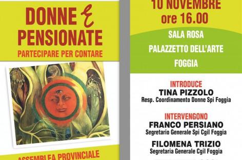 Foggia, assemblea provinciale del Coordinamento Donne Spi Cgil – 10 Novembre