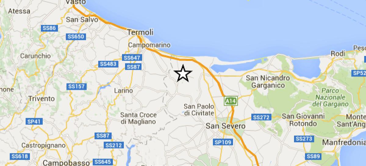 Capitanata: registrati 3 eventi sismici dal 3 al 7 Novembre, magnitudo superiore a 2.5
