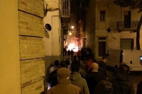 San Severo, boato e fiamme sotto la casa di un Consigliere Comunale