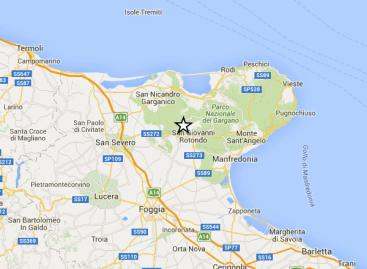 San Giovanni Rotondo: La terra continua a tremare, terremoto di magnitudo 2.7
