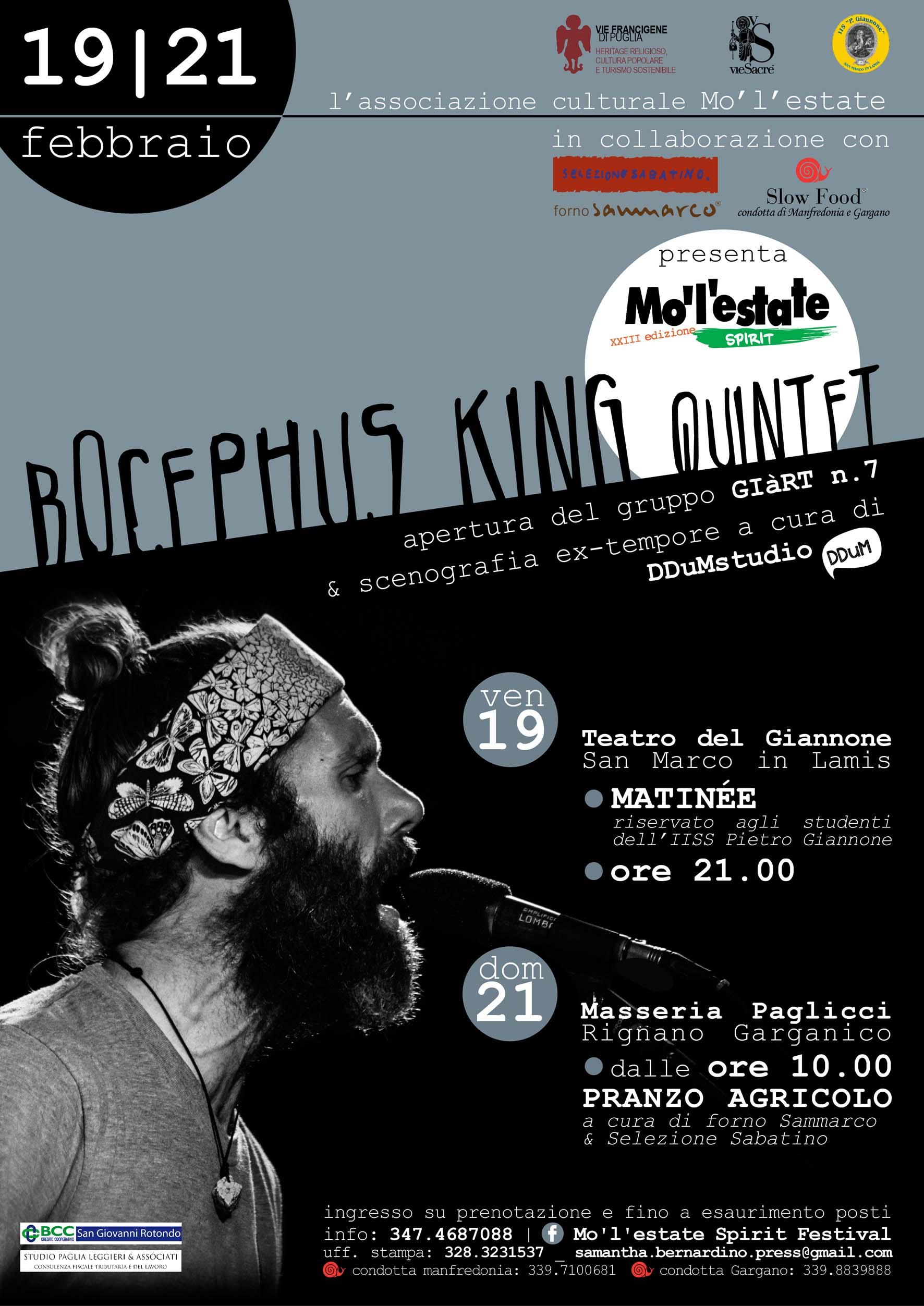 BOCEPHUS KING LIVE SUL GARGANO PER MO'L'ESTATE SPIRIT FESTIVAL