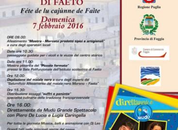 35^ Féte de lu Cajùnne de Faìte – Sagra del maiale di Faeto Domenica 07 febbraio