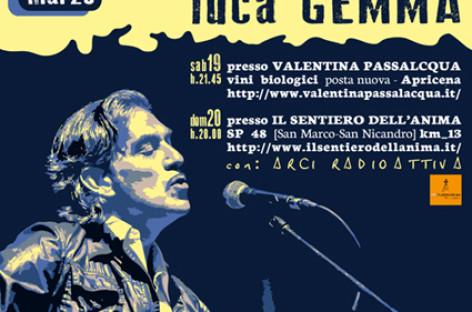 Apricena e San Marco in Lamis: Doppio Appuntamento per Luca Gemma