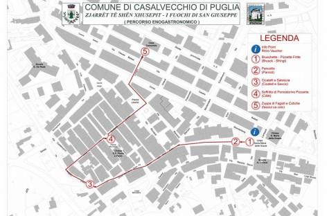 """Casalvecchio di Puglia, """"Fuochi di San Giuseppe"""" – MAPPA"""