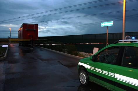 Manfredonia, campi di radiazioni ionizzanti da un camion di rifiuti presso l'impianto ETA