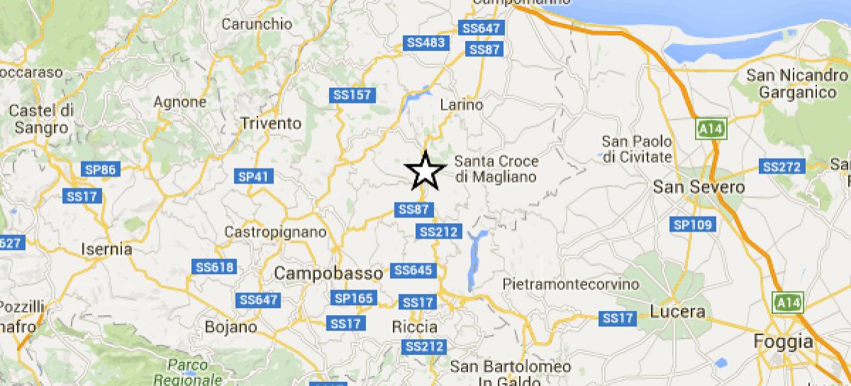 Terremoto Molise: scossa avvertita anche in Capitanata: MAGNITUDO 3.7