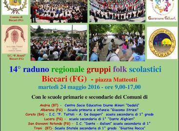 Biccari: Raduno regionale gruppi folk scolastici DANZARìA – 24 Maggio