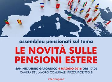 A San Nicandro Garganico, assemblea sulle pensioni estere