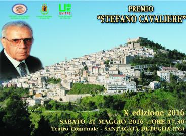 """""""Premio Stefano Cavaliere"""", sabato 21 maggio 2016 presso il Teatro comunale di Sant'Agata di P. alle ore 17,30"""