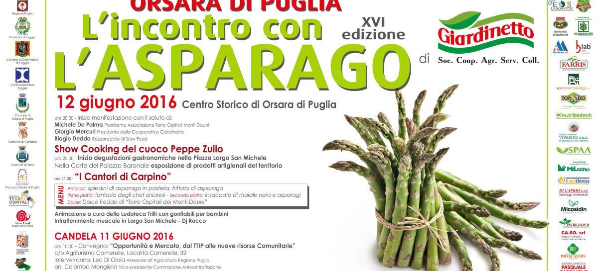 Orsara, giornata del gusto all'insegna dell'Asparago