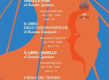 """Domani si parte con """"L'estate, racconta"""", un ciclo di laboratori dedicati ai più piccoli e curati dalle illustratrici professioniste de La Puglia Racconta"""