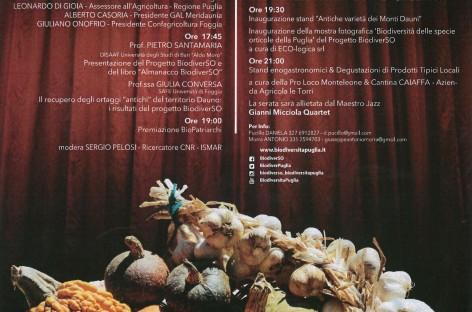 Monteleone di Puglia, Convegno sulla Biodiversità orticola dei Monti Dauni – 23 luglio