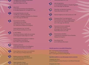Agosto a Orsara, 23 date e 32 eventi: c'è la grigliata Puglia-Irpinia